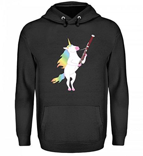 Para todos los fans del fagot y los unicornios. - Sudadera unisex con capucha.