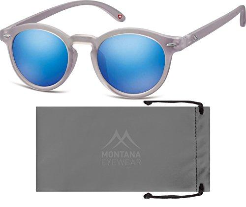 Montana MS28 gafas de sol, Multicolor (Grey + Revo blue), Talla única Unisex Adulto