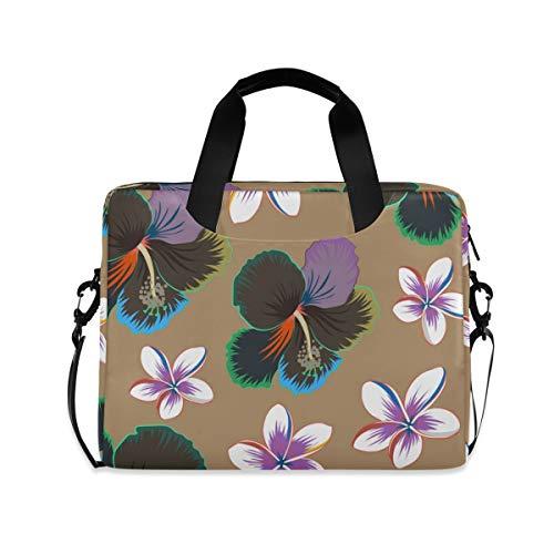 Laptop Bag, Seamless Tropical Hibiscus Laptop Briefcase Bag, 16 Inch Slim Laptop Backpack Laptop Case