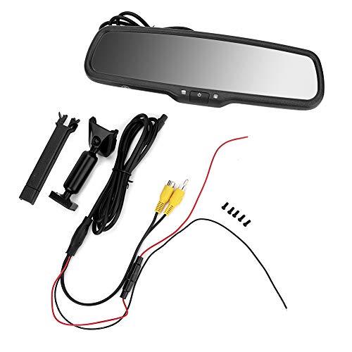 Monitor de oscurecimiento automático del espejo retrovisor del coche de 4.3 pulgadas con monitor retrovisor negro del soporte