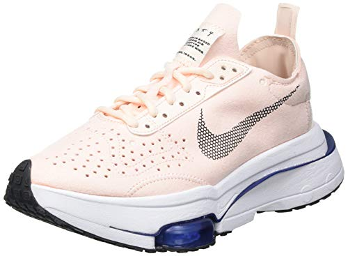 Nike W Air Zoom Type, Zapatillas para Correr Mujer, Orange Pearl Black White Deep Royal Blue, 37.5 EU