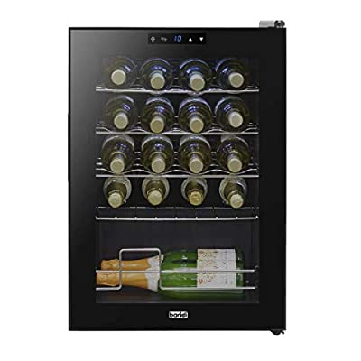 Baridi 20 Bottle Wine Cooler, Fridge, Touch Screen, LED, Low Energy A, Black