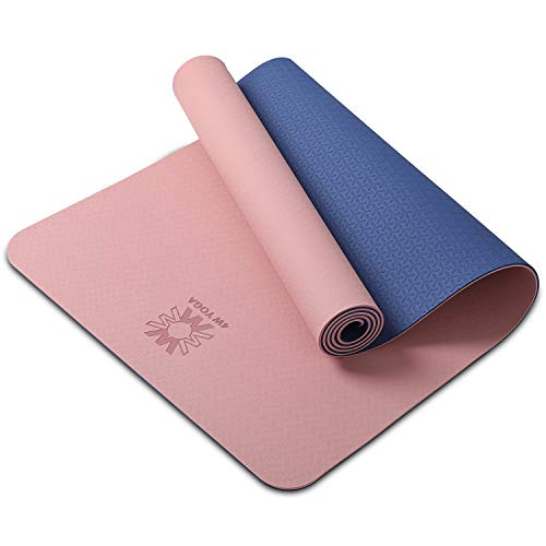 wwww Yoga Mat Extra Thick 1/4 & 1/3 Inch Non Slip Yoga Mats for Women & Men,Eco Friendly TPE Fitness Exercise Mat with Carrying Strap ,Best Gift for Valentine's Day