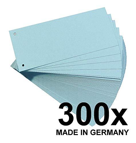 Falken Karton-Trennstreifen 10,5 x 24 cm 100er Pack blau Trennlaschen Trennblätter Ordner Register Blauer Engel (Standard - 300er Pack)