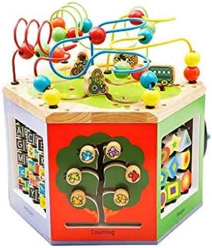 LIUFS-SPIELZEUG Kinder Perlen Schatztruhe Puzzle Früherziehung Hexahedron Spielzeug Geschenk ( Größe   L )