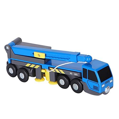 seductive GF Accesorios de Juguete de Juguete de Tren Multifuncional Mini grúa camión Juguete vheicles niños Juguete Compatible con Pistas de Madera ferrocarril GJF (Color : Blue)