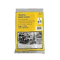 MAGICAL-ROLE プラスチックドロップクロス 多用途 お買い得 クリアドロップ布シート 防水家具カバー 13.12フィート x 16.4フィート (1ミル)