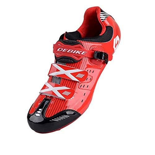 XUJINGJIE Zapatillas de Ciclismo de Carretera Unisex Specialized Zapatillas MTB Hombres con Suela De Carbono,B,40(UK6.5)