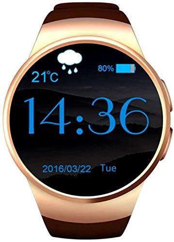 YSSJT Reloj inteligente con tarjeta de reloj inteligente, Bluetooth, color dorado