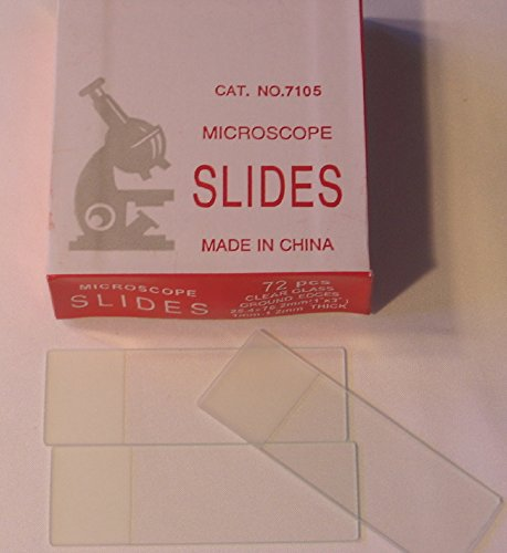 Frosted Microscope Slides, Box of 50 Slides, Ground Edges