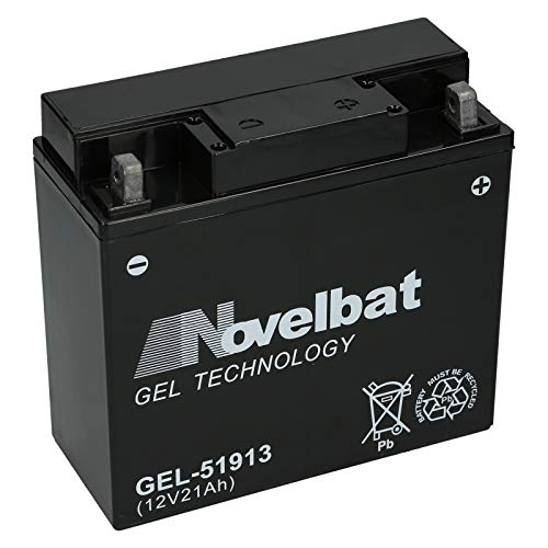 Novelbat 51913 GEL Motorradbatterie 12V 21Ah 300A