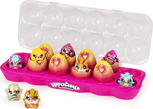 Hatchimals 6054178 CollEGGtibles, Limmy Edish Glamfetti Paquete de 12 cajas de huevos con 12 exclusivos, multicolor , color/modelo surtido