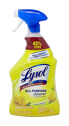 Lysol All Purpose Cleaner Spray, Lemon Breeze, 32 Fl Oz