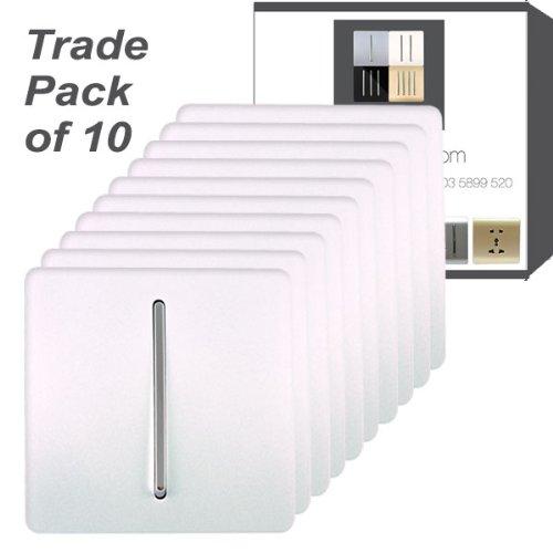 Trendi /Étendoir 3/Gang 1/Way Artistique Moderne Brillant 10/A Interrupteur /à Bascule Interrupteur Tactile Argent Art-ss5si