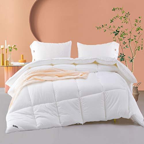 Amazon Brand - Umi All Season Duvet Down Alternative Duvet Hypoallergenic Duvet, shell made of 100% cotton, small jacquard fabric, Oeko-Test, Suitable for allergy sufferers