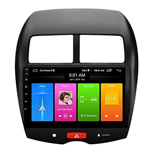 SODIAL 2 DIN Android 10 Car MP5 Player Radio EstéReo 2 + 16GB WiFi NavegacióN GPS para Powerful ASX 2013-2015