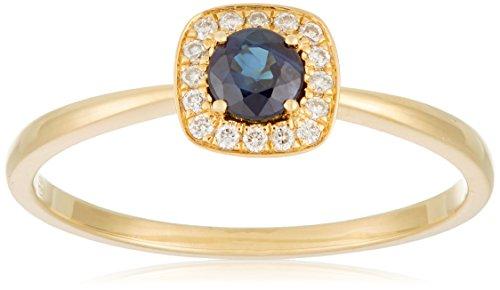 Tous mes bijoux anillos Mujer oro amarillo 18 k (750) zafiro