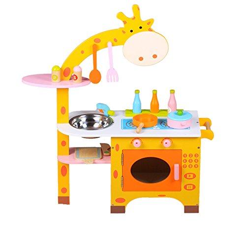 Jouets FEI Enfants Simulation Cuisine Cuisine en Bois Ensemble pour 3-5 Ans Cadeau d'anniversaire Début Éducation (Couleur : B)