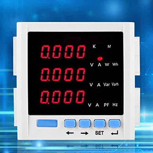 Panel eléctrico, medidor de voltaje de caja de medidor eléctrico, pantalla LCD con retroiluminación azul de red digital para sistemas de energía industrial y minería