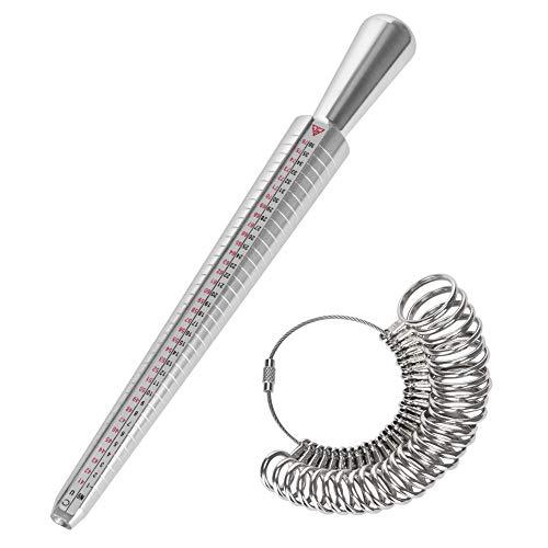 Sayiant Ringgrößen-Bestimmer, Messdorn, Messskalen-Set, Größen 41-76, Messring-Set zur Bestimmung des Ringdurchmessers