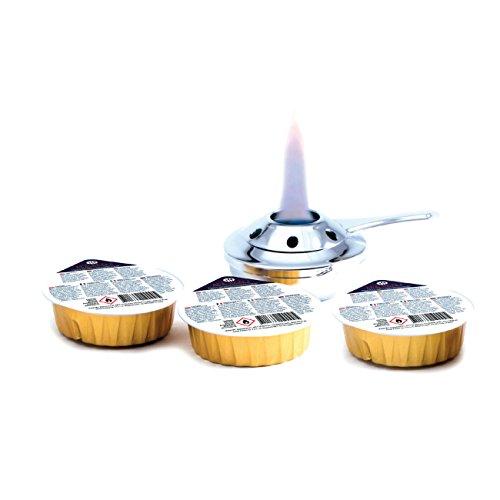 HENDI Brennpaste, für HENDI Fondue Brenner 111420, auf Bio Ethanolbasis, brenndauer ± 2 Stunden, Brenngel, Fire Paste, für Fondue Brenner, Steingrillplatter, Speisewärmer, Rechaud, 3 stück, 80 Gramm