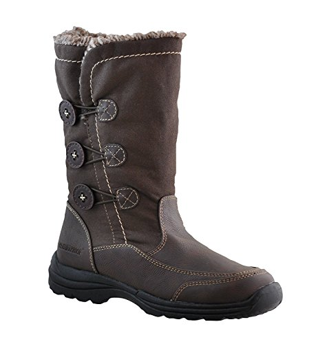 Weatherproof Delta Snow Boots Water Resistant Lightweight Warm Brown Winter Boots for Women, Size - 8