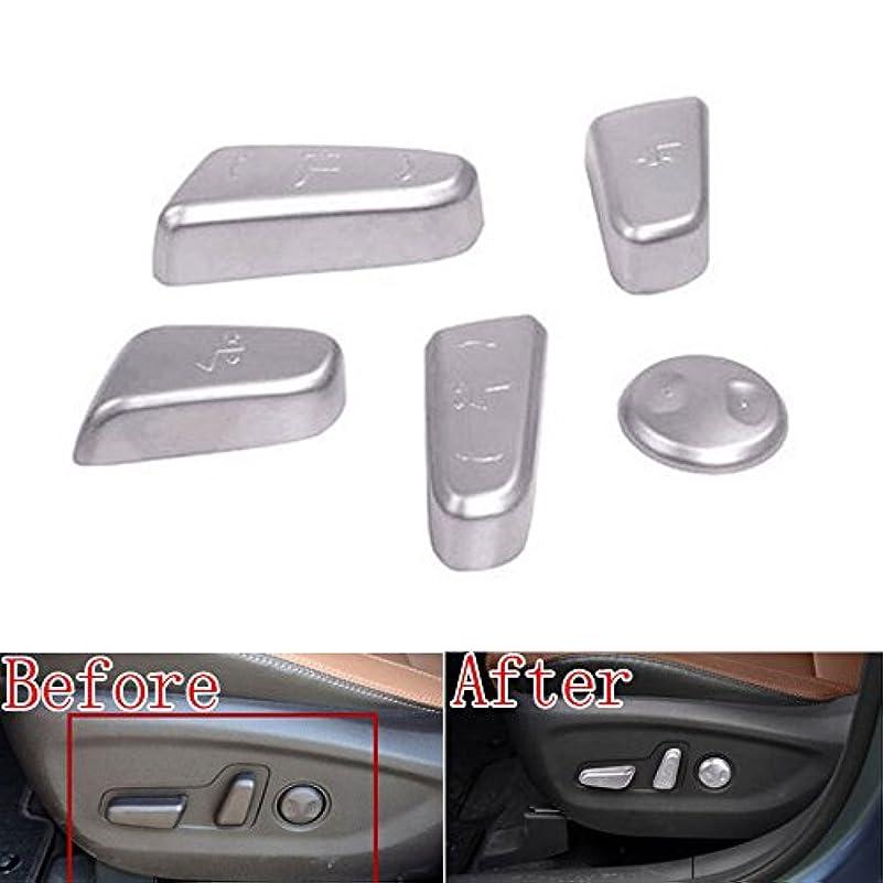 宿題をする退屈熱意Jicorzo - 5x ABS Chrome Car Door Seat Adjustment Switch Control Knob Button sticker Fit For Hyundai Tucson Car decal Accessory