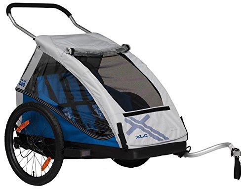 XLC 20 Zoll Duo² Inklusive Buggyrad Fahrradkinderanhänger, blau