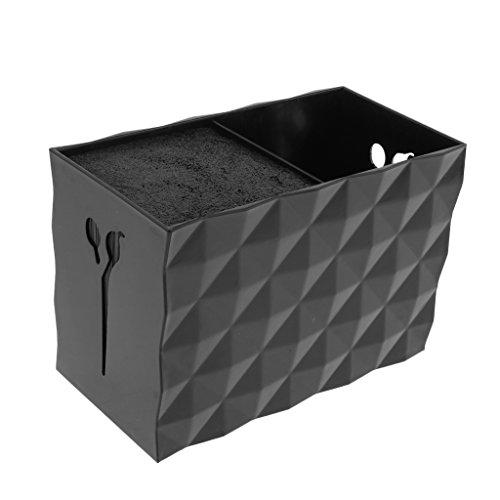 B Baosity Schwarz Friseurschere Halter Ständer Friseurkamm Organiser Box Behälter für Frisuersalon und Hause