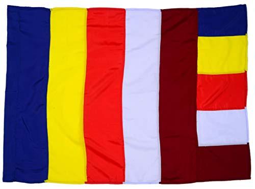 BUDDHAFIGUREN Buddhistische Fahne Gelb-Blau-Rot-Weiß 82x114 cm