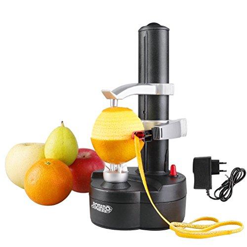 Multifonction Éplucheur Automatique avec Adaptateur Cuisine Épluche Électrique pour Fruits et Légumes(Noir)