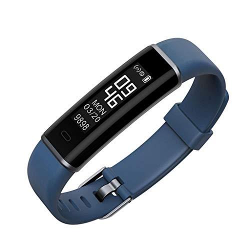 Activity Tracker Slaapbewaking Waterdicht Smart Horloge Met Hartslag Bloeddruk Stappenteller Voor Kinderen Vrouwen En Mannen Compatibel met iOS en Android Blauw
