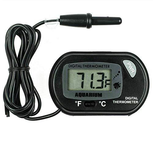 Hotaluyt LCD Digital Aquarium Thermometer-Fisch-Behälter-Wasser-Temperatur-Messgerät Aquarium Temp Detector