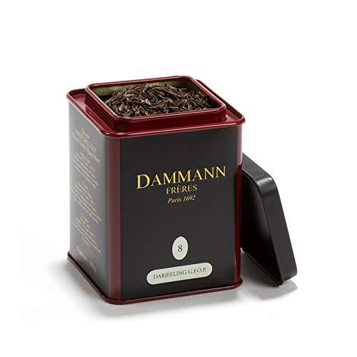 Passerini bakwaren sinds 1919 Damman Darjeeling G.F.O.P. Golden Flowery Orange Pekoe) 8 - zwarte thee met een smaak van amandelen en perzik, 100 g, Damman Frères