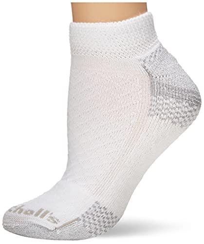 Dr. Scholl's Women's 2 Pack Diabetic & Circulatory Non-Binding Low Cut Socks, White, Shoe Size: 4-10