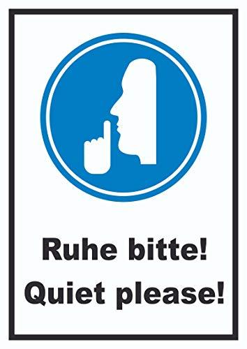 HB-Druck Ruhe Bitte Quiet Please Schild A6 (105x148mm)