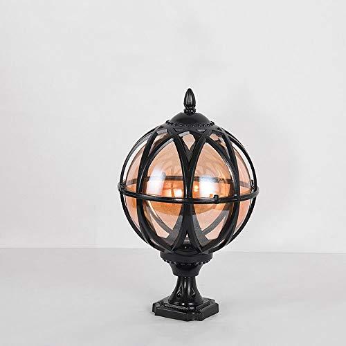 SHAOYH Europea Victoria Villa impermeable pilar poste Tabla E27 al aire libre Antioxidantes Iluminación Lámparas Decoración pilar de la columna de luz pared del hogar de la puerta de cristal de la lám