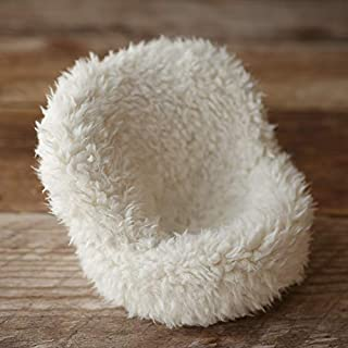 POSING POD COVER ONLY - FURRY IVORY - MINI SIZE - NEWBORN PHOTOGRAPHY PROP