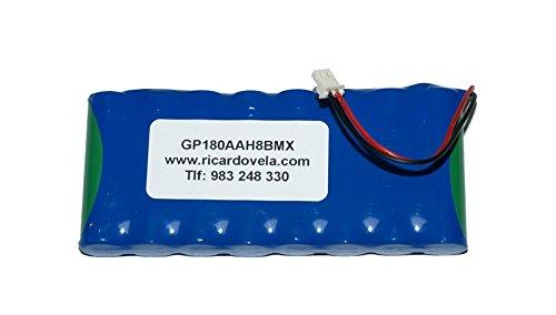 Bateria para Alarma VISONIC Powermax Pro GP180AAH8BMX 0-9912-G 9.6V 2100mAh GP220AAH8BMX 103-300672