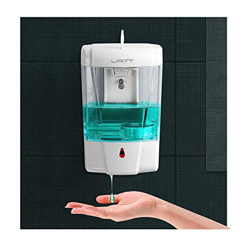Automatic Touchless Hand Sanitizer Dispenser Wall Mounted, Simple Human Soap for 350ml Gel/Liquid, Refillable Sensor Pump Hands Touch Free Bathroom/Kitchen (LA-700ml for Gel)