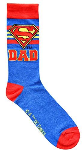 Hyp Superman Logo Super Dad Herren Crew Socken Gr. 39-46