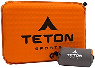 TETON Sports ComfortLite Self-Inflating Seat Cushion; Never Sit on Hard Stadium Bleachers Again; Designed with Your End in Mind