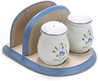 Floral Expressions by Hearthside, Stoneware Salt & Pepper