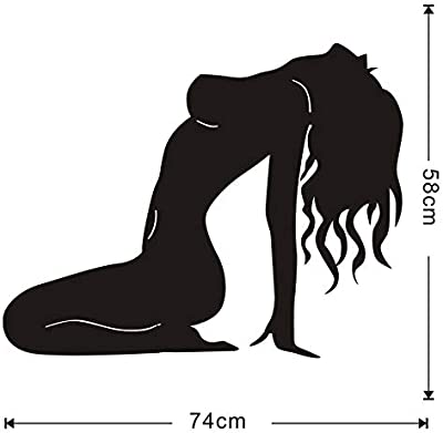 Gadgets wrap Naked Sex Lady Pose Wall Decals Modern Art Wall Sticker for Girl Bedroom Murals Vinyl Wallpaper Removable Home Decoration