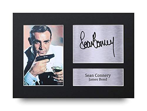 HWC Trading Sean Connery A4 Ungerahmt Signiert Gedruckt Autogramme Bild Druck-Fotoanzeige Geschenk Für James Bond Filmfans