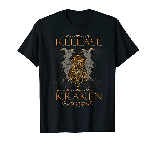Liberar los mitos ocultos de terror Kraken Kawaii de CTHULHU Camiseta