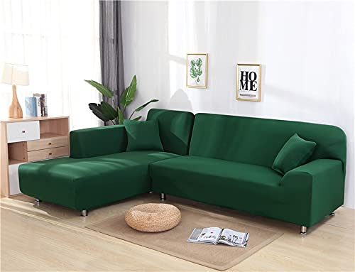 WXQY Einfarbiger Wohnzimmersofabezug elastischer Elasthan-Sofabezug L-förmiger Ecksofabezug-Set Couchbezug A8 4-Sitzer