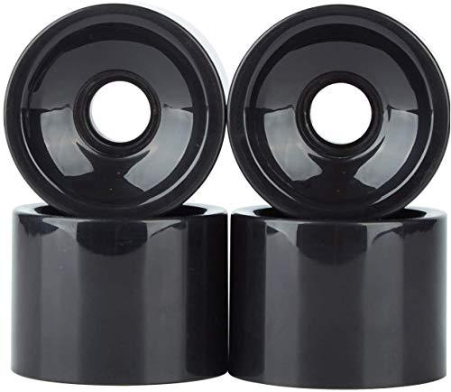 POFET - Ruote di ricambio per skateboard longboard, 60 x 45 mm, 78 A, ruote di ricambio anche per Cruiser Pennyboard Waveboard Snakeboard, ideali per principianti, set da 4, colore: nero