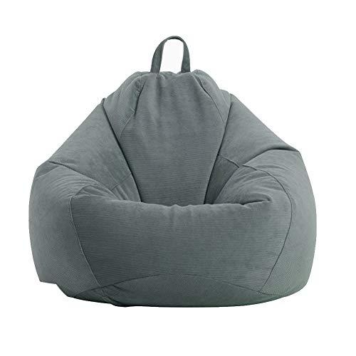Sitzsack Stuhlbezug Sofa Couch Abdeckung ohne Füllstoff Lazy Lounger Hohe Rückenlehne Sitzsack Stuhl für Erwachsene und Kinder, weicher Cord waschbar Möbel Sitzsack (nur Bezug, kein Füllstoff)