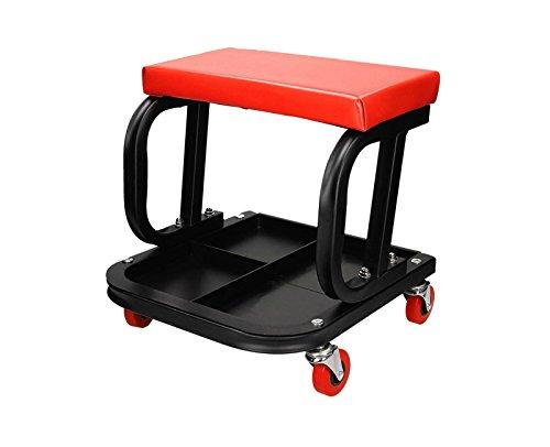 Werkplaats kruk verrijdbaar met opbergruimte gereedschap werkplaatsstoel stoel werkplaatskruk
